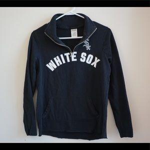 Victoria's Secret PINK white Sox quarter zip